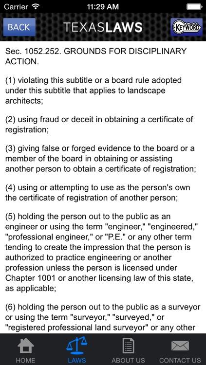 Texas Laws screenshot-3