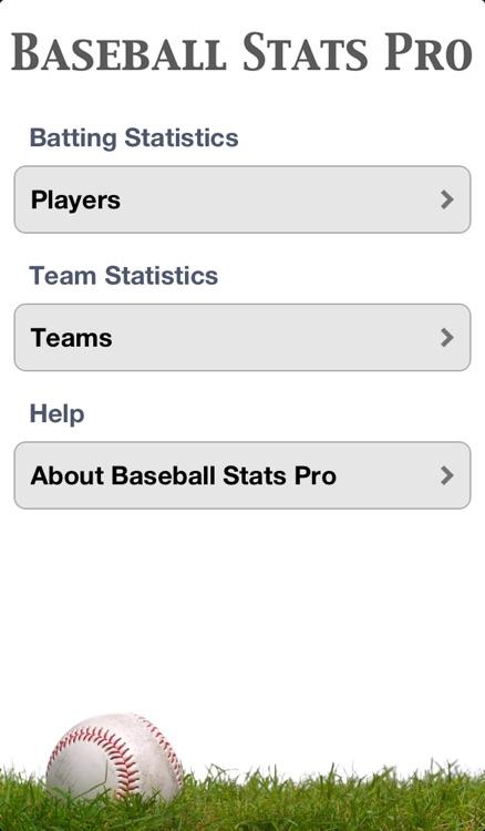 Baseball Stats Pro