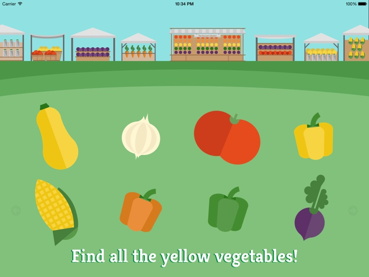 Preschool Farm Fun - Teach your child colors, counting, shapes and puzzles using yummy Vegetables!