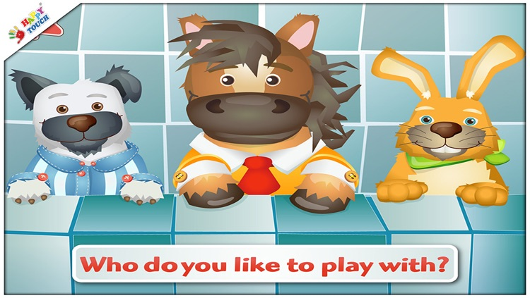 Brush your teeth with funny animals for kids and toddlers (by Happy Touch Apps)