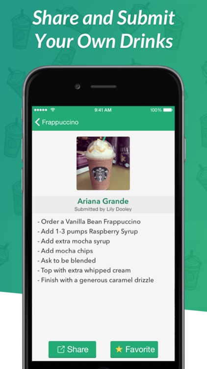 Secret Menu for Starbucks - Coffee, Frappuccino, Tea, Cold, and Hot Drink Recipes screenshot-3