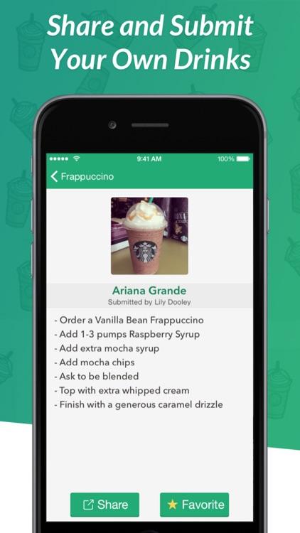 Secret Menu for Starbucks - Coffee, Frappuccino, Tea, Cold, and Hot Drink Recipes screenshot-3