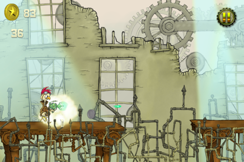 Steampunk Chicken - Free iPhone/iPad Racing Edition screenshot 4