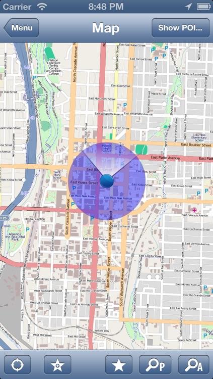 Colorado, USA Offline Map - PLACE STARS