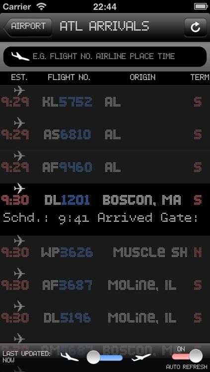 New York Airport - iPlane2 Flight Information