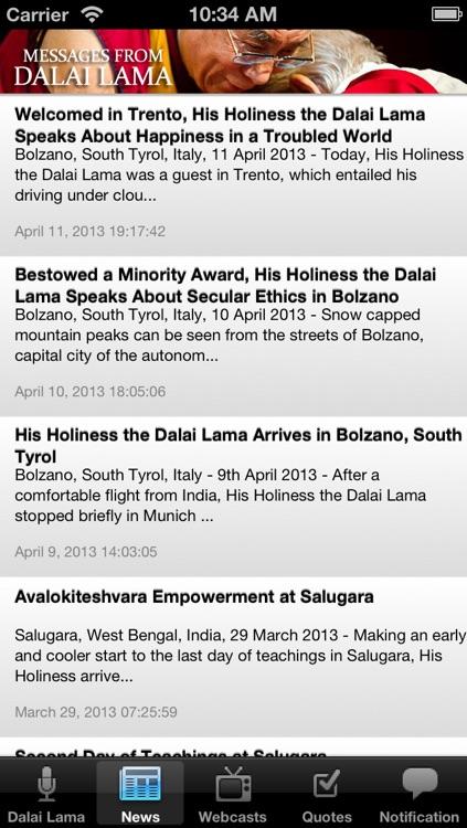 Messages from the Dalai Lama screenshot-3