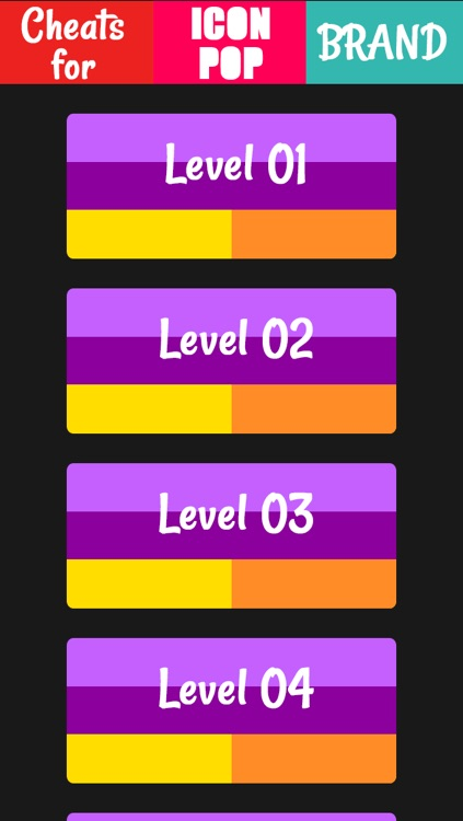 Cheats for Icon Pop Brand.