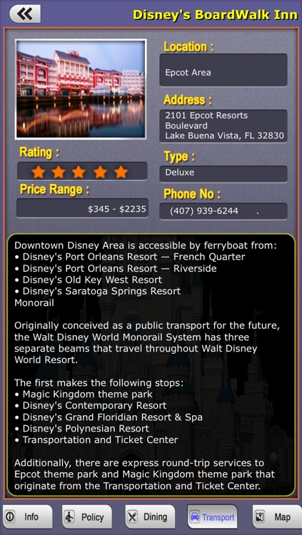Offline Travel Guide Disney World screenshot-4
