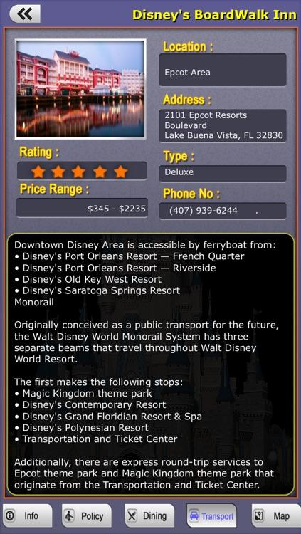Offline Travel Guide Disney World screenshot-4