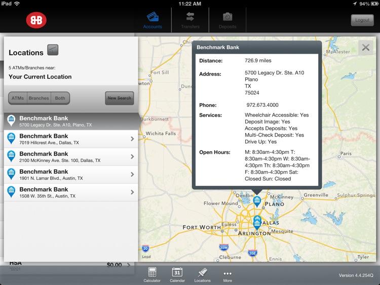 Benchmark Bank Mobile Banking for iPad screenshot-3