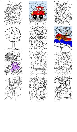 Boek Van Kleuren Op Nummer Met Genummerde Potloden Voor Kinderen