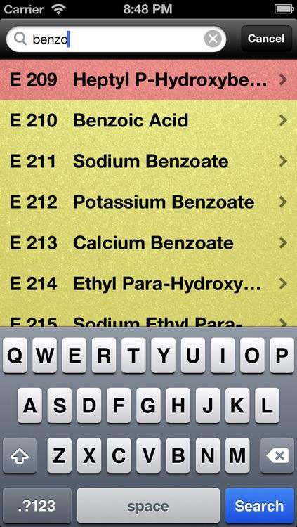 e300 Safe Food Additives screenshot-3