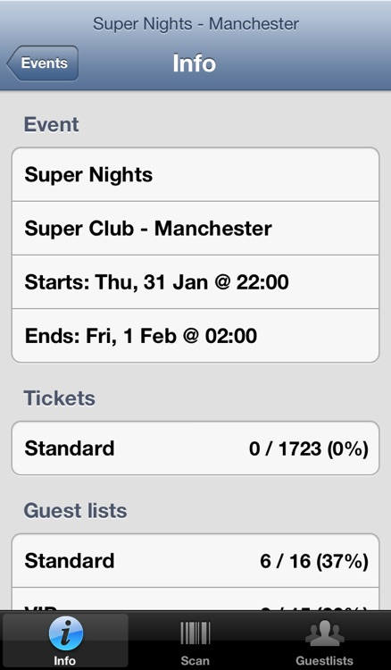 Nutickets Entry System screenshot-2