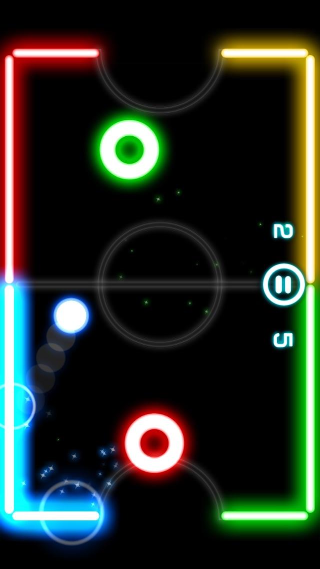 Glow Hockey 2Screenshot von 1