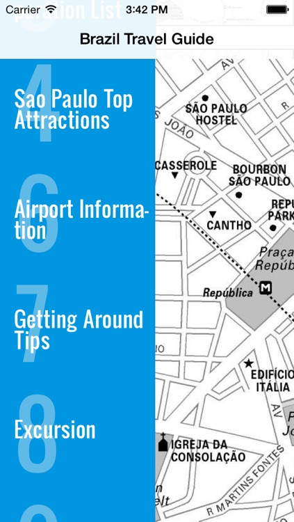 Sao Paulo travel guide and offline map - metro São Paulo subway saopaulo airport transport, city Sao Paulo guide, tourist traffic maps lonely planet Brazil worldcup trip advisor screenshot-3
