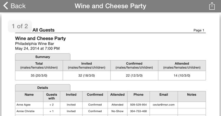 Guest List Organizer screenshot-4