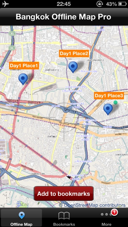 Bangkok Offline Map Pro screenshot-0
