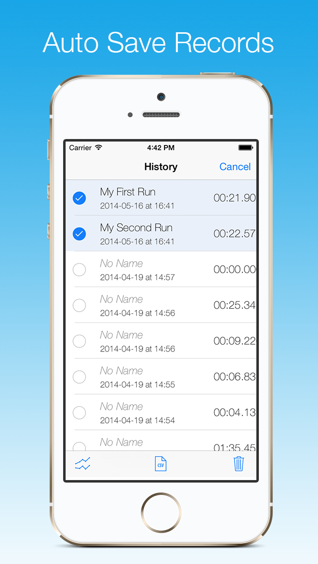 Stopwatch - A professional and accurate stopwatch with milliseconds precision Screenshot 3