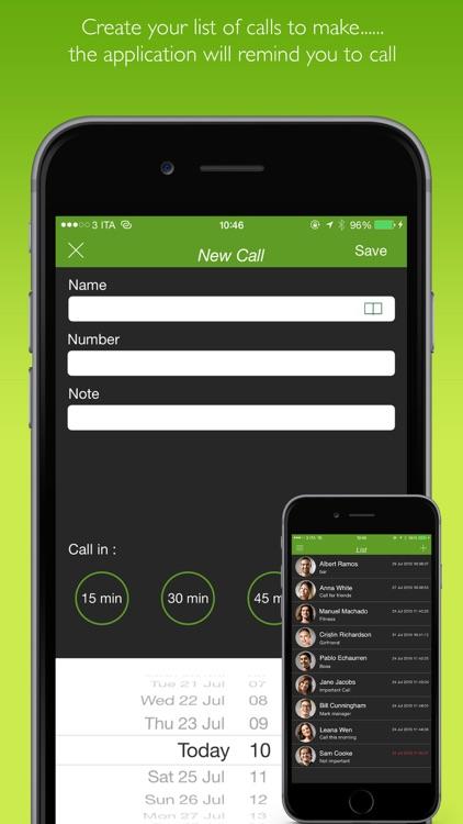 Call Later ( Memo call )