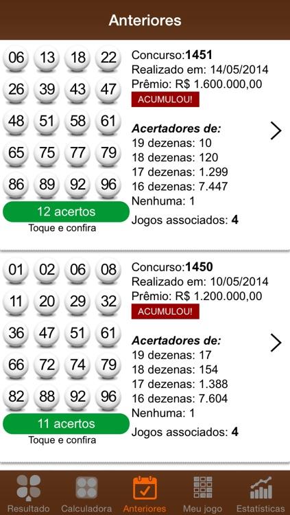 Resultados LotoMania screenshot-4