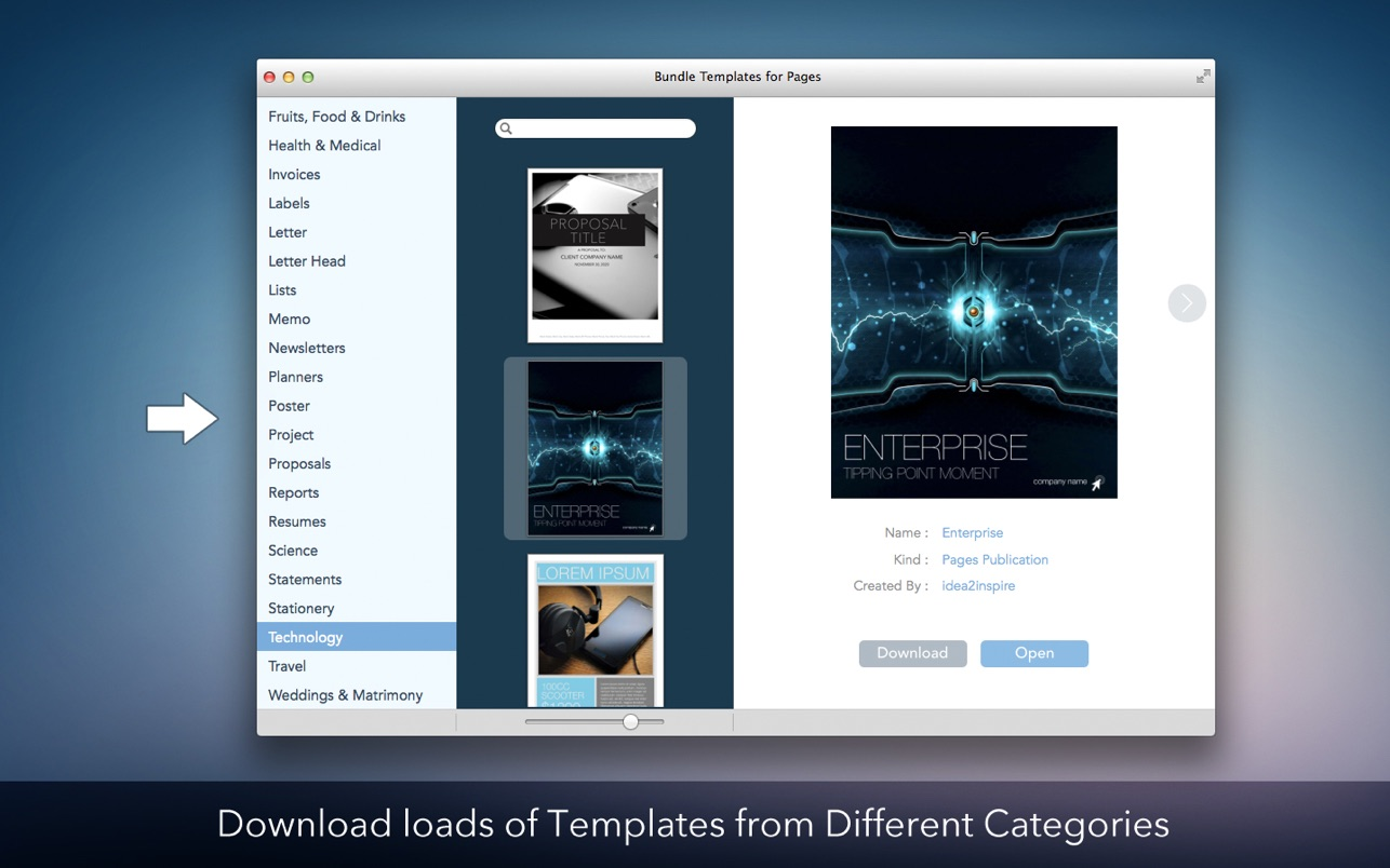 Bundle Templates for Pages