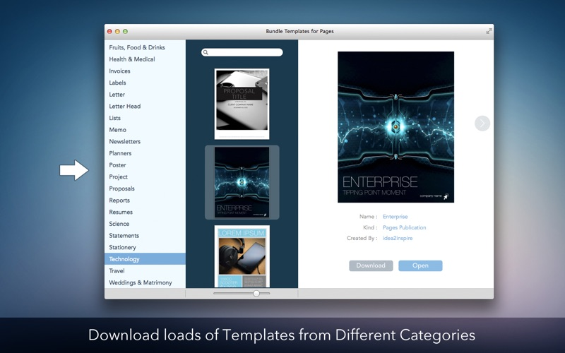 Bundle Templates for Pages for Mac