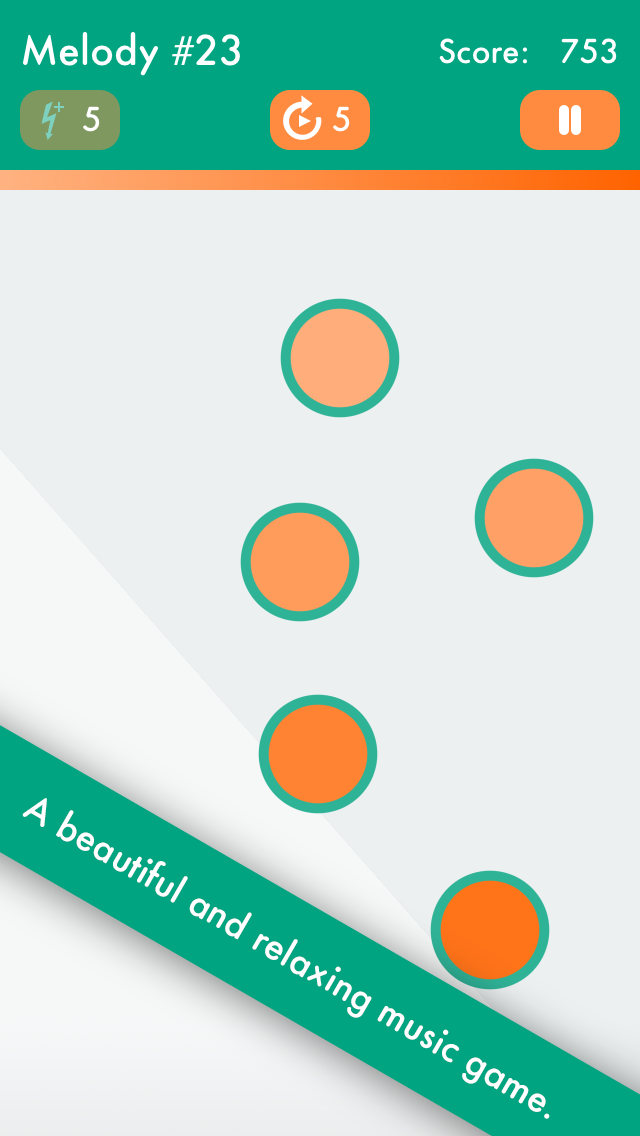 ZenTone - A relaxing music game for meditation, rhythm, noise, stress