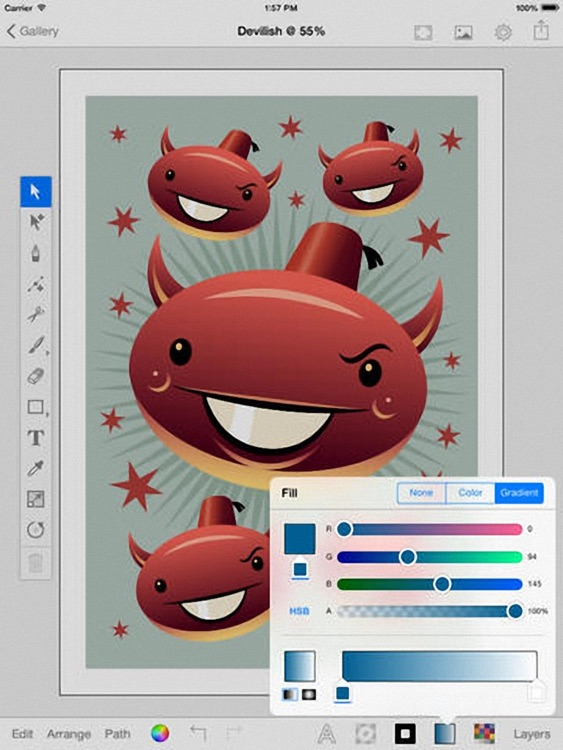iDraw Plus - Vector illustration & Graphics & Art Design screenshot-2