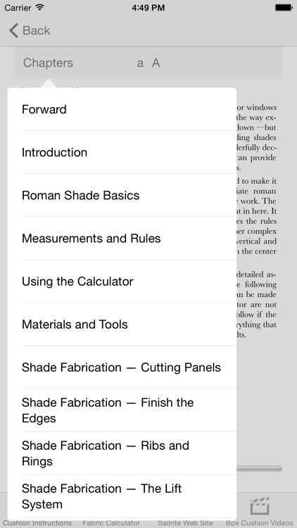Roman Shade Fabrication Pro screenshot-0