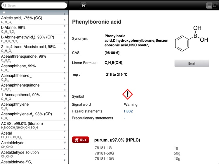 The Aldrich Handbook of Fine Chemicals for iPad