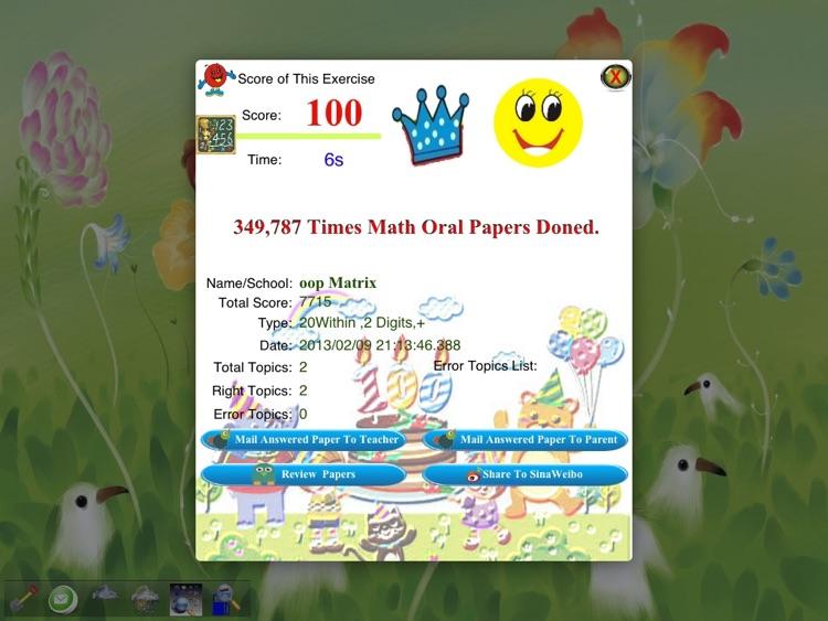 Primary School Mathematics oral calculation exercises screenshot-3