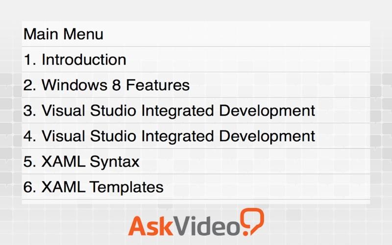 AV for Windows 8 App Dev - Introduction To App Dev скриншот программы 3