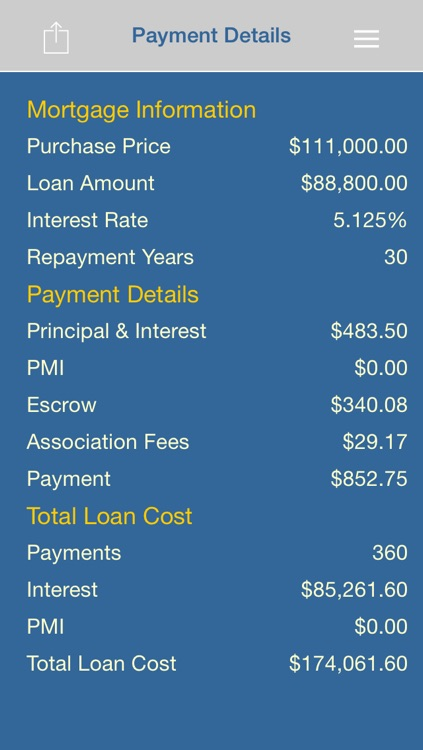 Mortgage iCalculator Pro screenshot-1