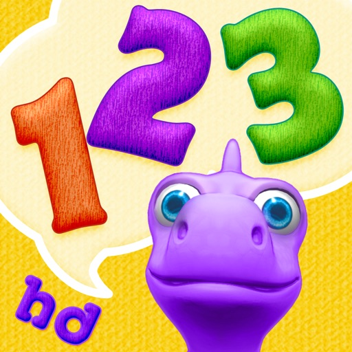 Numbers with Dally Dino HD - Preschool Kids Learn Counting with A Fun Dinosaur Friend icon