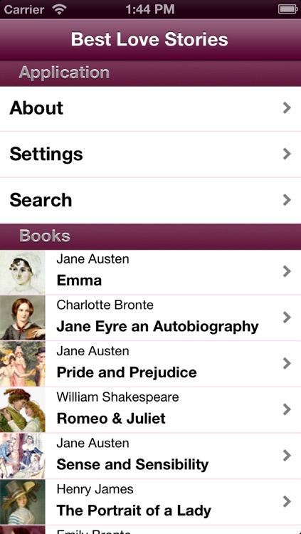 Best Love Stories (with search)
