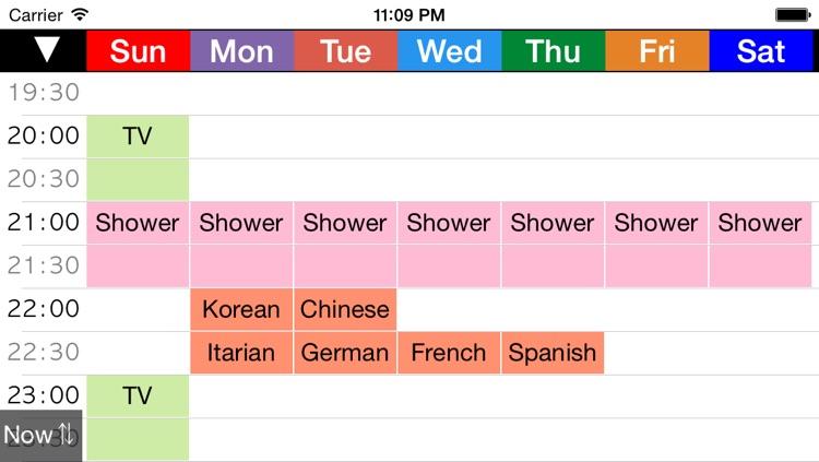 Week Table - Weekly Schedule Timetable / scheduler / planner screenshot-3