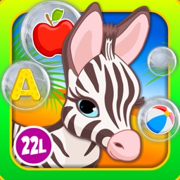 Abby Monkey® Baby Bubble Activity School: Educational Flash Cards Kids Learning Games for Toddlers and Preschool Explorers