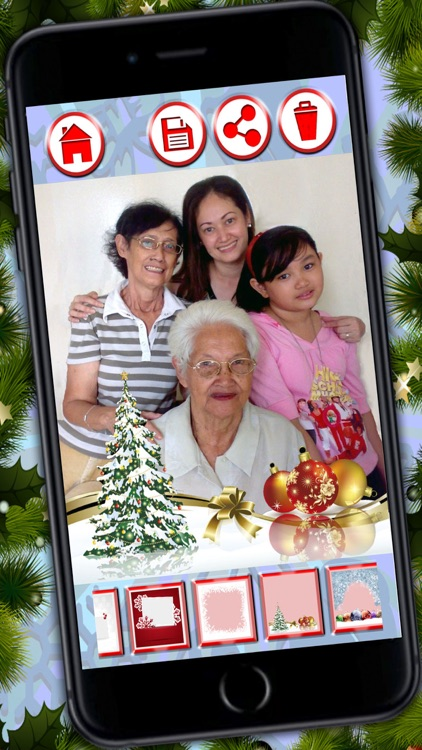 Christmas frames – Create customized xmas greetings to wish Merry Christmas screenshot-3