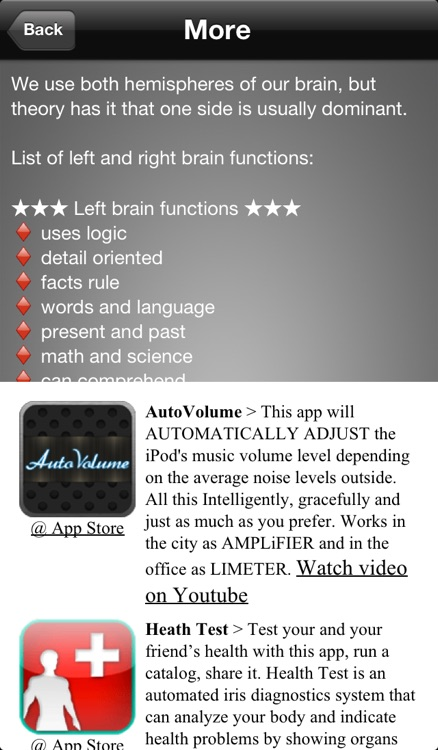 Brain Test ~ I'm Left or Right brained? ~ A brain side hemisphere dominance quiz screenshot-4