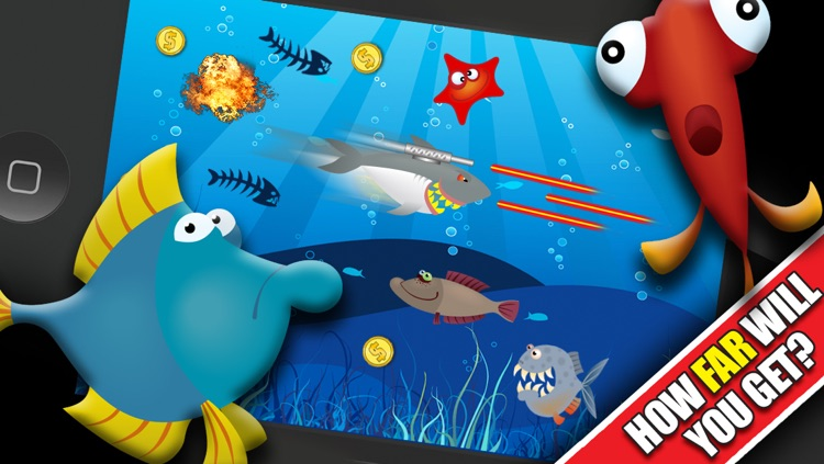Shark Attacks! : The Fast Fish Underwater Shooting Game - By Dead Cool Apps screenshot-4