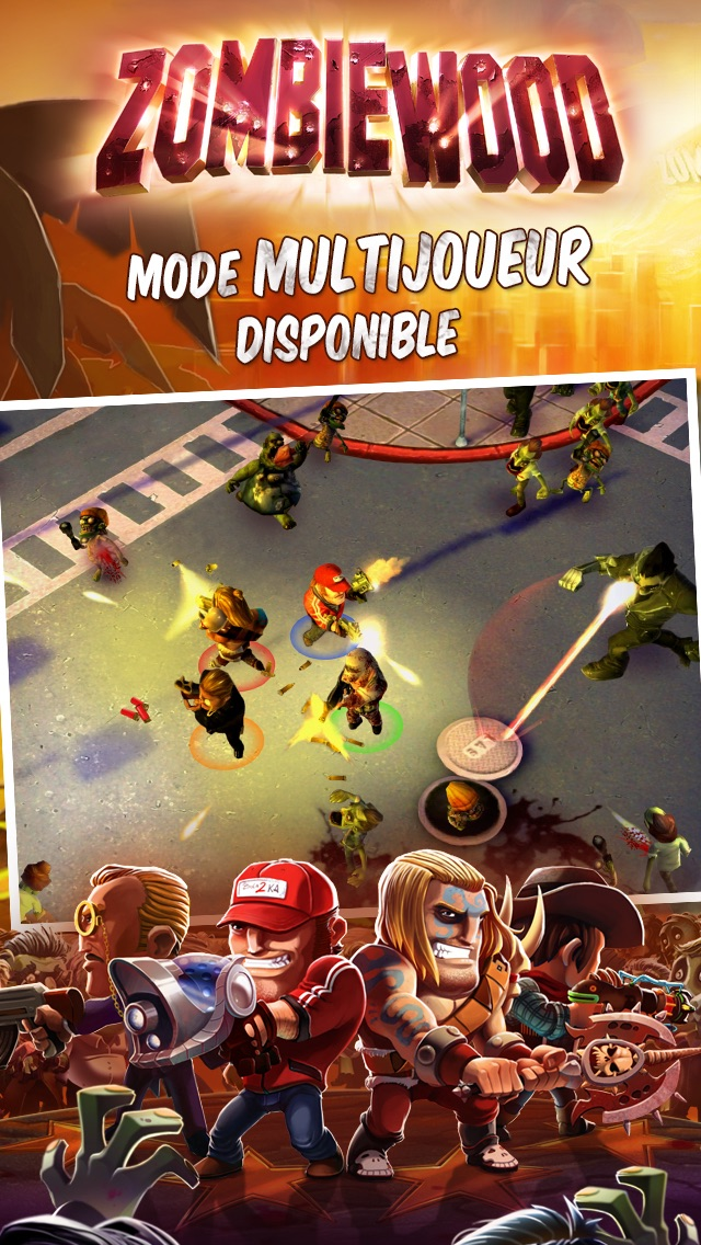 Massacrez du zombie gratuitement sur iPhone avec Zombiewood-capture-1