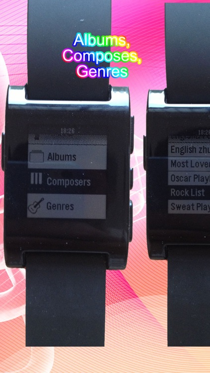 Music for Pebble Smartwatch: Remote Song Control and View screenshot-3