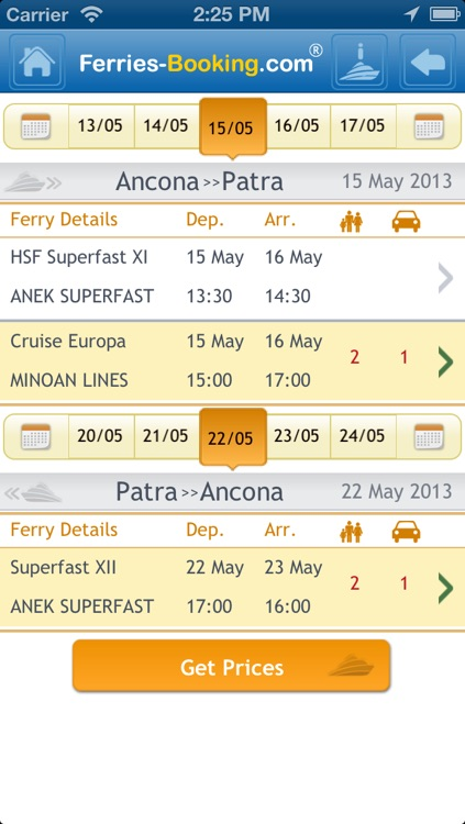Ferries-Booking
