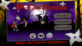 Doom Ninjas FREE: Skeleton Ninja Jump in Dark House