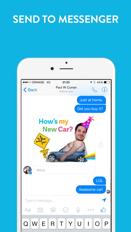 KitCut - Visual Mashup for Messenger