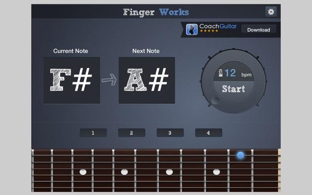 Fingerworks - guitar software learning app teacher on the ...