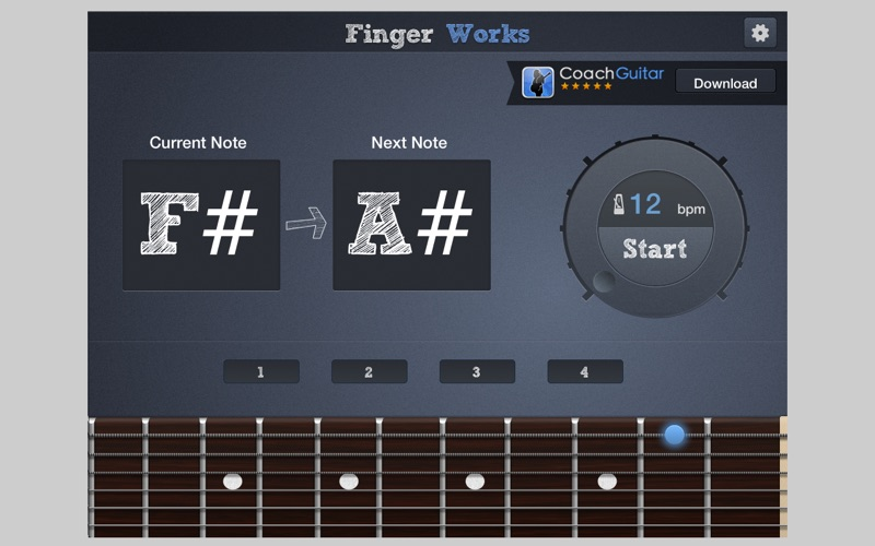 Fingerworks - guitar software learning app teacher for Windows