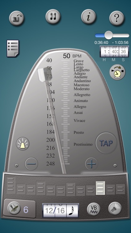 Lifelike Mechanical Metronome