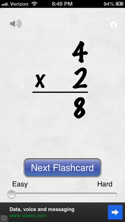 Awesome Flashcard Multiplication FREE screenshot-1