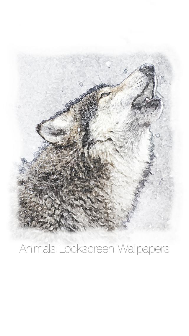 Lockscreen Wallpapers : Painted Animals